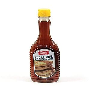 A bottle of Hartleys sugar free pancake syrup