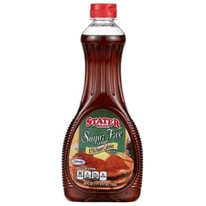 A bottle of Stater Bros sugar free syrup