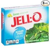 JELLO Lime Sugar Free (0.6oz Boxes, Pack of 6)