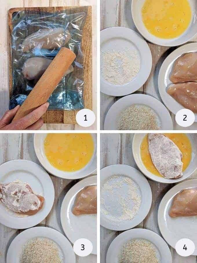 Pictures of preparing chicken parmesan | weight watchers