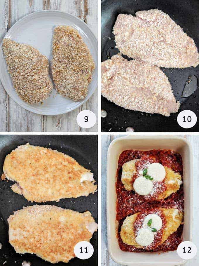 More pictures of how to prepare chicken parmesan | weight watchers