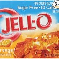 JELL-O Orange Sugar Free Gelatin Dessert Mix (0.30 oz Boxes, Pack of 6)