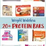 A collage of Protein bars for Weight Watchers