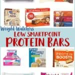 A collage of best low smartpoint protein bars