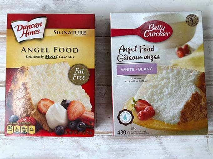 Two Angel Food Cake Box Mixes