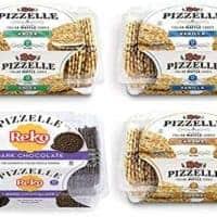 Reko Pizzelle Cookies 4 Flavor Samplers - Anise, Dark Chocolate, Caramel, Vanilla (4 Pack)