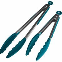 StarPack Basics Silicone Kitchen Tongs (9-Inch & 12-Inch)