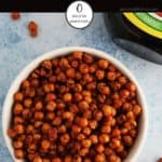 A picture of a bowl of marmite flavoured chickpeas