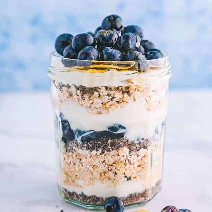 Blueberry & Chia Seed Overnight Oats | Weight Watchers