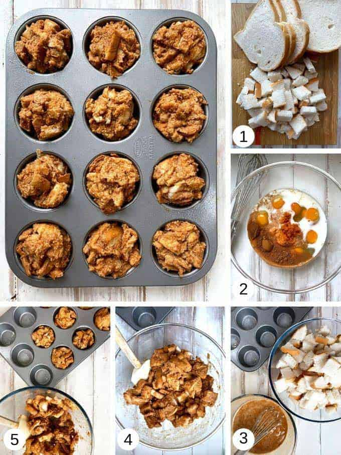 Making Pumpkin Spiced French toast muffins