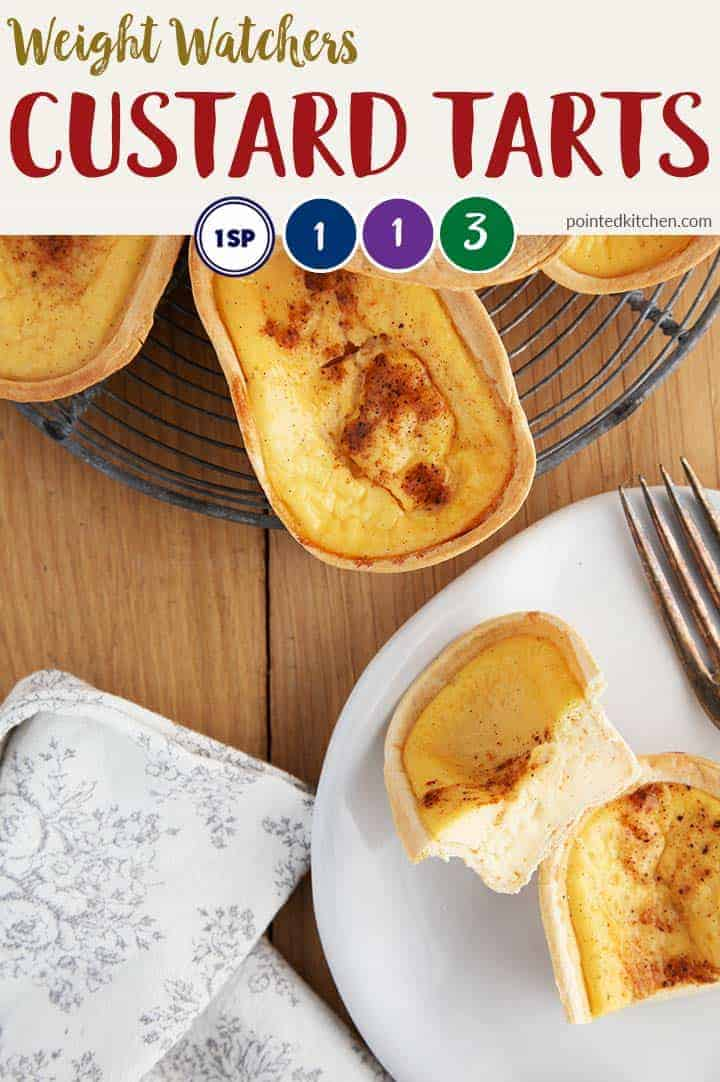 These tasty little Custard Tarts are just 1 SmartPoint per piece on Weight Watchers Freestyle plan, myWW Purple plan & myWW Blue plan. They are 3 SmartPoints per piece on myWW Green plan. Easy to make & even easier to eat! #wwfreestylerecipes #wwgreenplanrecipes #wwblueplanrecipes #wwpurpleplanrecipes #weightwatchersrecipeswithpoints #smartpoints #weightwatchersdesserts