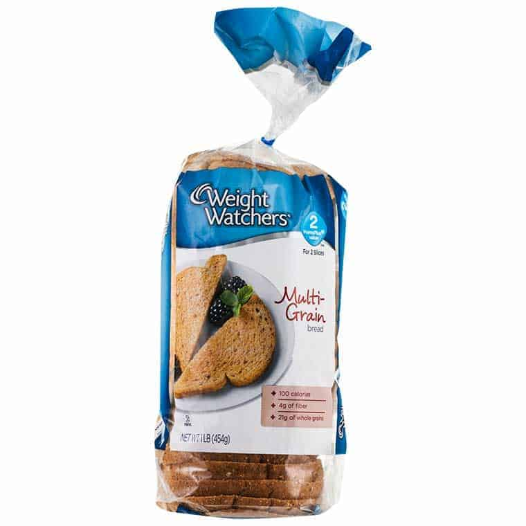 A loaf of Weight Watchers Multi Grain Bread 1 smartPoint