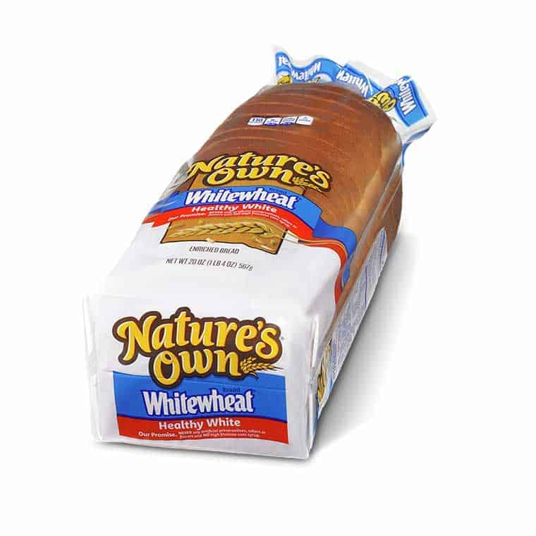 A loaf of Nature's Own WhiteWheat bread