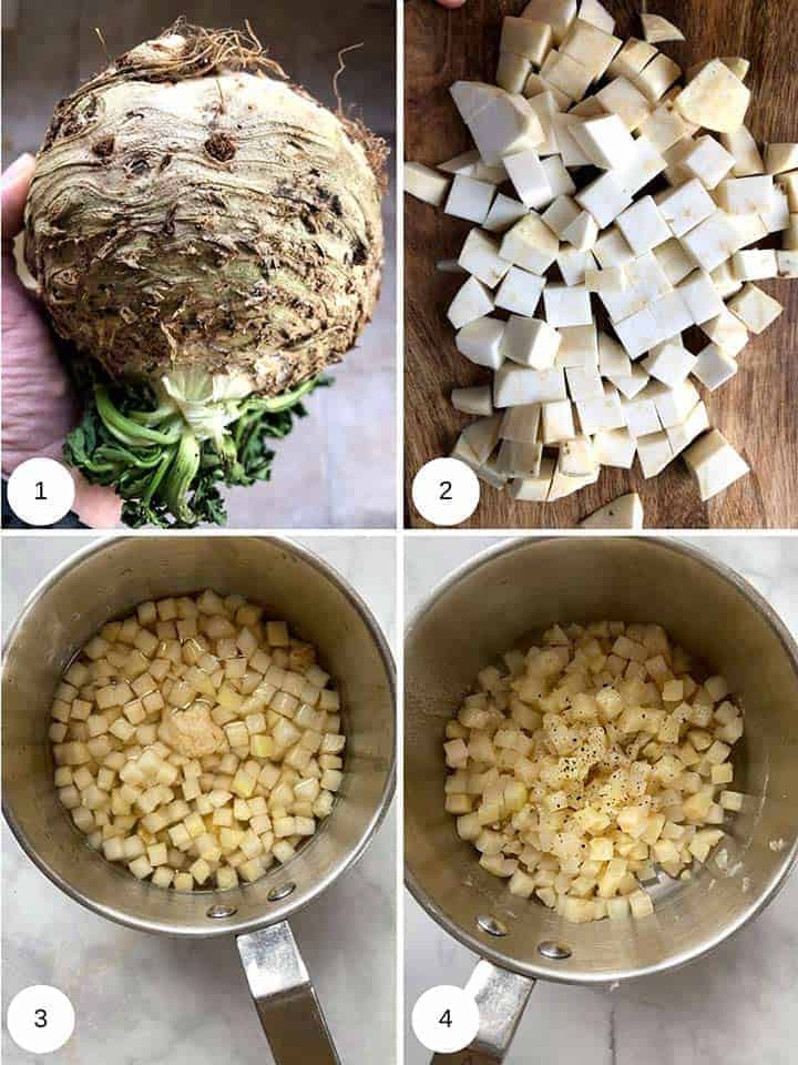 Picture of making chopping celeriac