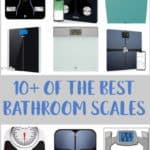 A collage of bathroom scales