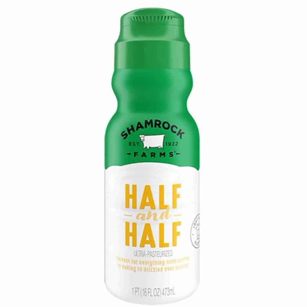 A bottle of Shamrock Farms Half & Half