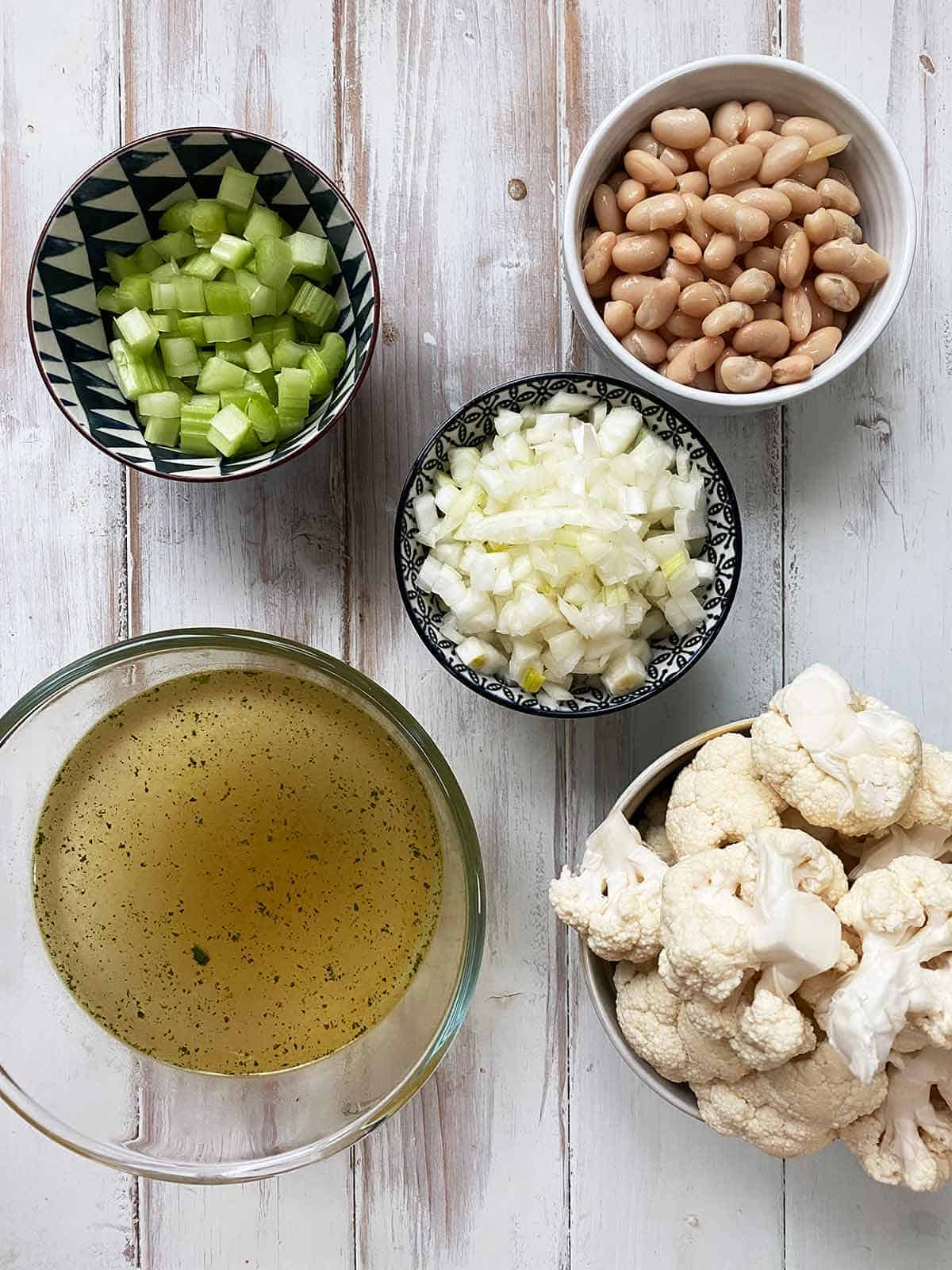 Ingredients for weight watchers white bean soup