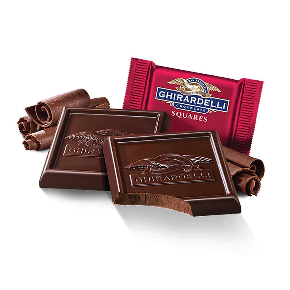 Some Chirardelli chocolate squares