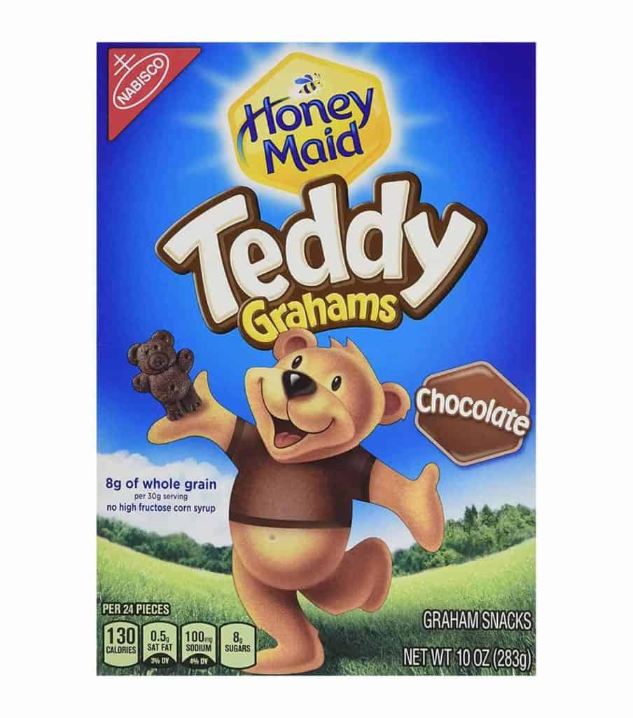 A box of Honey Maid Teddy Grahams - Low Point Chocolate