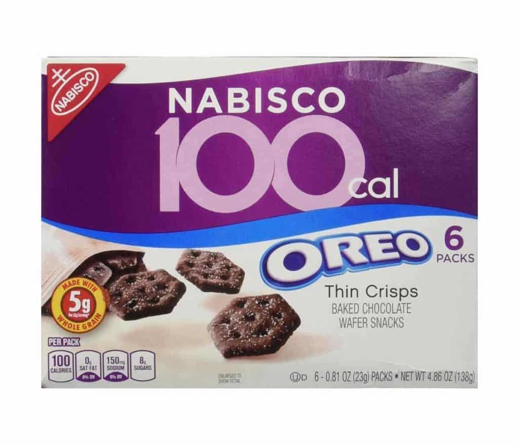 A box of 100 cal Oreo Thin Crisps