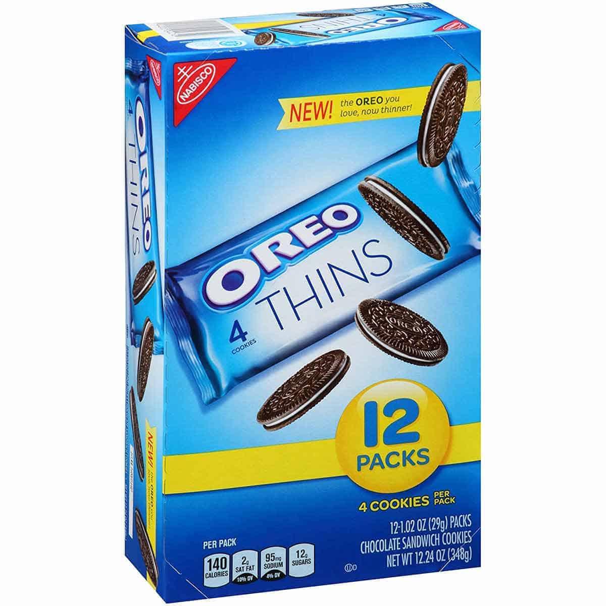 A box of Oreo Thins